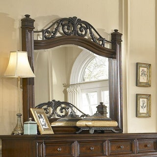 Regency Espresso Landscape Mirror