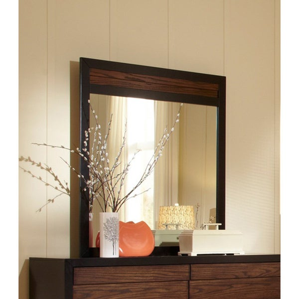 Echo Black/ Dark Oak Mirror