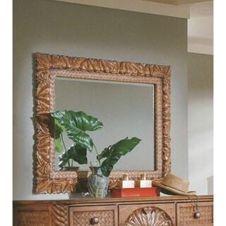Palm Court Island Pine Carved Landscape Mirror