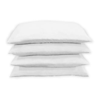 Feather Rectangle White Pillow Insert (Set of 4)