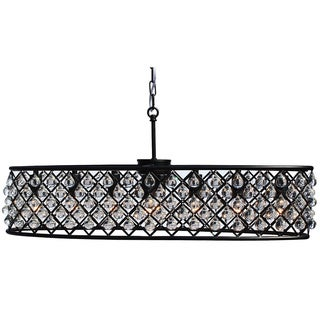 Cassiel 30-inch Oval Crystal Chandelier