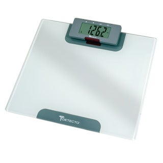 Detecto Advanatage LCD 4-in-1 White Bathroom Scale with Remote