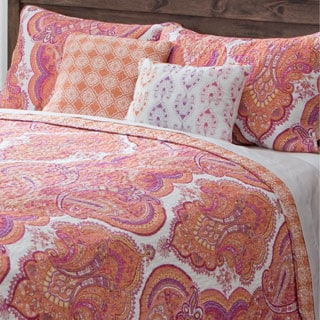 Brilliance Paisley 5-piece Cotton Quilt Set