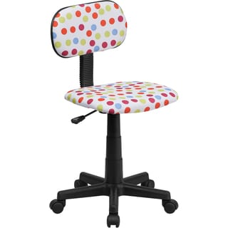 Offex Multi-colored Dot Printed Computer Chair