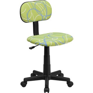 Offex Blue/ White Swirl Printed Green Computer Chair