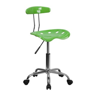 Offex Vibrant Spicy Lime/ Chrome Computer Task Chair with Tractor Seat