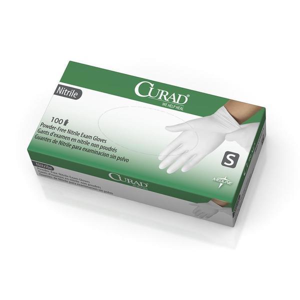 Curad White Nitrile Exam Gloves (6 Boxes) - 16900247