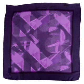 Halston 'Specular Reflection' Electric Purple Scarf