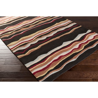Hand-tufted Jalen Striped Wool Rug (9' x 12')