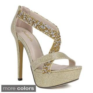 Celeste Women's 'Sheri-06' Embellished Strappy Sandals