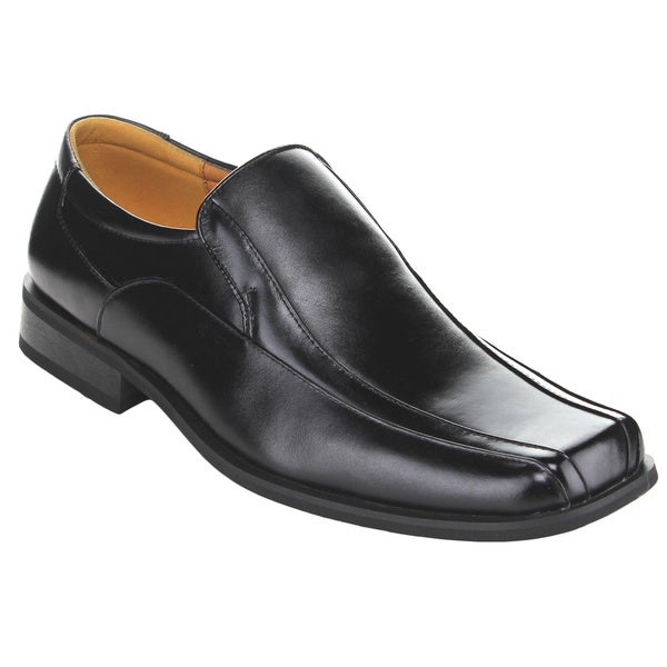 Exchange Men's Black Leatherette Slip-on Loafers