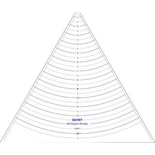 """Circle Wedge-60 Degrees 14"""" Long W/1"""" Measuring"""