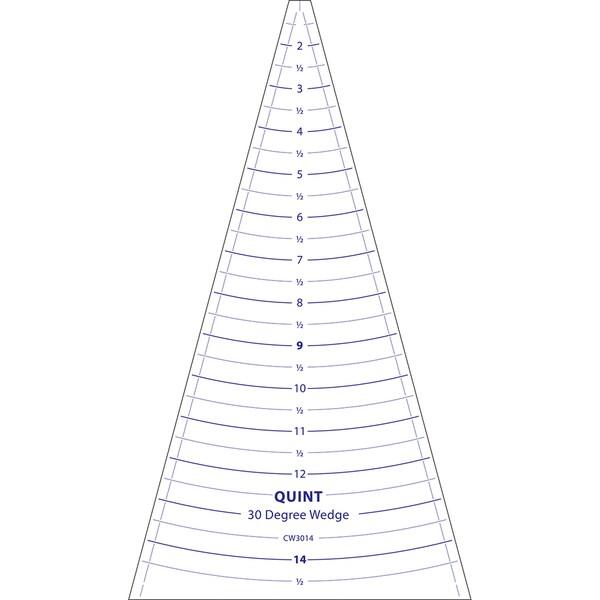"""Circle Wedge-30 Degrees 14"""" Long W/1"""" Measuring"""