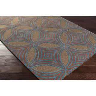 Hand-Tufted Allman Contemporary New Zealand Wool Rug (9' x 13')