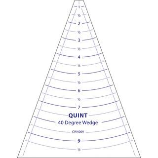 """Circle Wedge-40 Degrees 9"""" Long W/1"""" Measuring"""