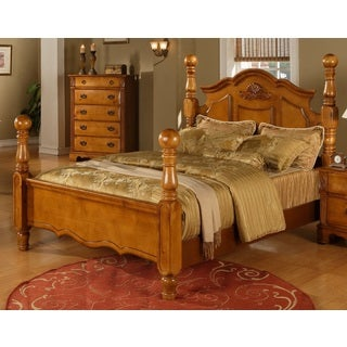 Vista Warm Pine Poster Bed