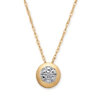 PalmBeach 10k Yellow Gold Diamond Accent Pendant