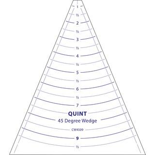 """Circle Wedge-45 Degrees 9"""" Long W/1"""" Measuring"""