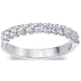 Amore Platinum 1/2ct TDW 11-stone Prong-set Diamond Wedding Band (G-H, SI1-SI2)