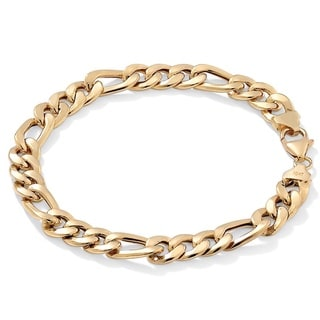 PalmBeach Men's Figaro-Link Bracelet in 10k Gold