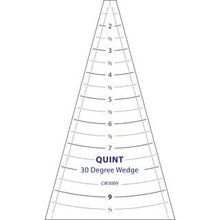 """Circle Wedge-30 Degrees 9"""" Long W/1"""" Measuring"""