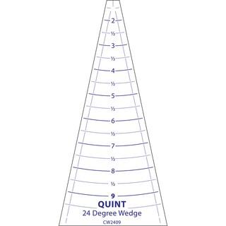 """Circle Wedge-24 Degrees 9"""" Long W/1"""" Measuring"""