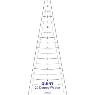 """Circle Wedge-20 Degrees 9"""" Long W/1"""" Measuring"""