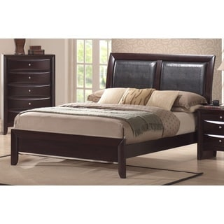 Skyline Modern Faux Leather Insert Panel Bed