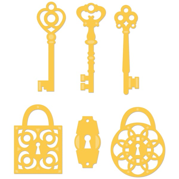 Kaisercraft Die-Keys And Locks