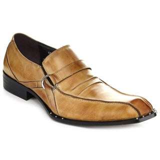 Unique G9376-6 Men's Circle Buckle Detail Loafer