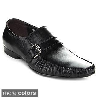Unique Men's Buckled Loafer Shoes