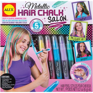 Metallic Hair Chalk Salon Kit-