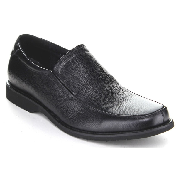 Exchange Men's Z2801 Black Slip-on Penny Loafer Shoes