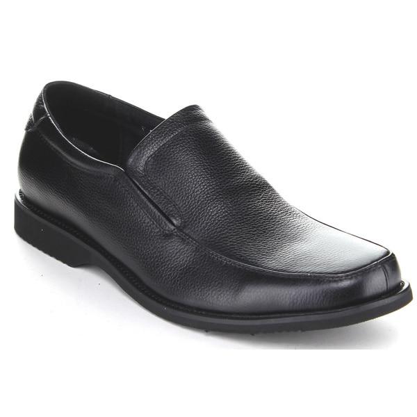 Exchange Men's Z2801 Black Slip-on Penny Loafer Shoes