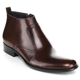Unique Men's Brown Inside Zipper Ankle Boots