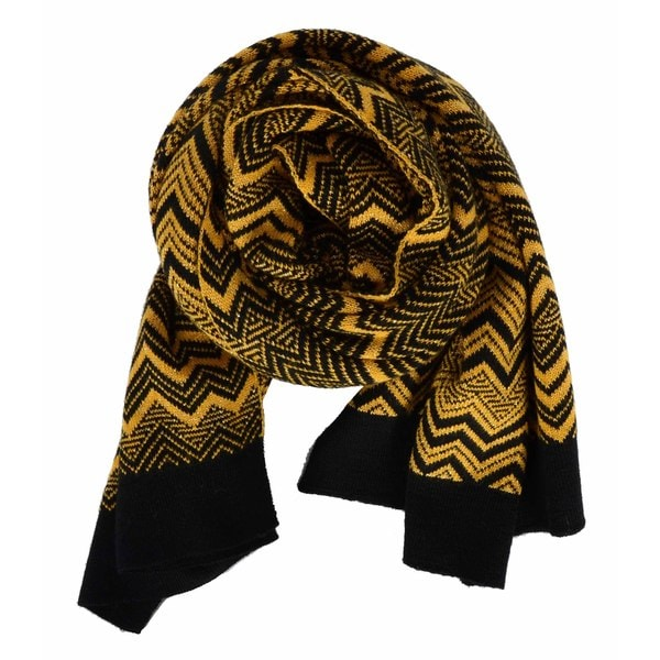 Missoni Yellow Engineered Zig-zag Scarf