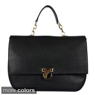 Versace Women's Pebbled Leather Chain-strap Satchel