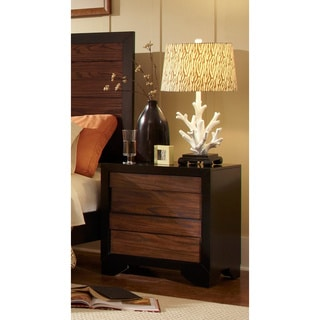 Echo Black/ Dark Oak Nightstand