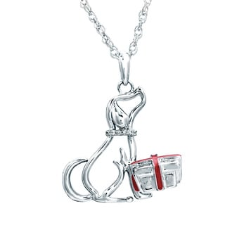 ASPCA Sterling Silver Diamond Accent Dog Necklace