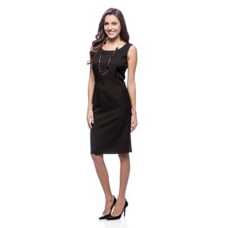Le Suit Women's Black Glazed Melange Dress