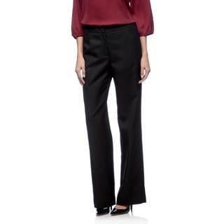 Le Suit Front Zip Glazed Melange Pant