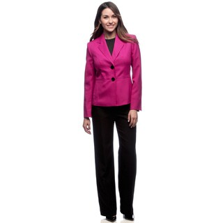 Evan-Picone 2-button Notch Collar Jacket/ Um Pant Suit