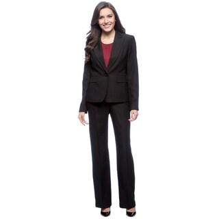 Le Suit 1-button Peak Collar Tonal Stripe Pant Suit