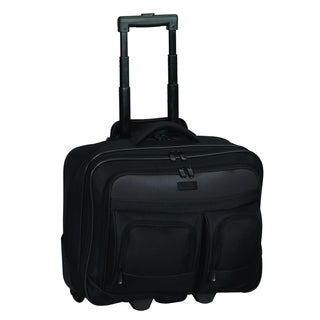 Executive Black Rolling Tote