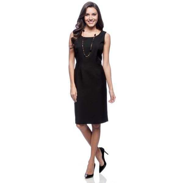 Kasper Black Melange Sheath Dress