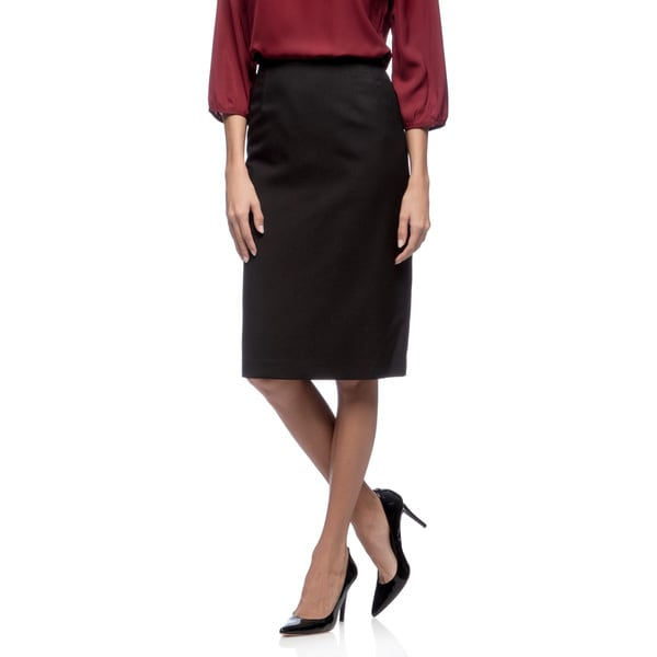 Kasper Black Melange Slim Skirt