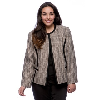 Kasper Plus Size Framed Multi Tween Cardigan