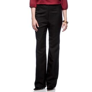 Kasper Women's Melange Fly Front Pant