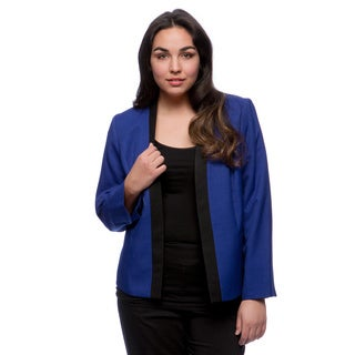 Kasper Plus Size Melange Framed Jacket