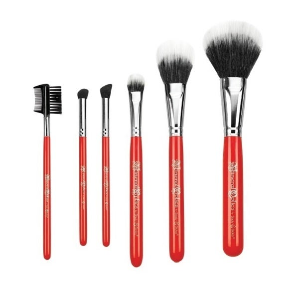 Beauty Strokes Mineral Optics 6-piece Brush Set with Roll-up Case